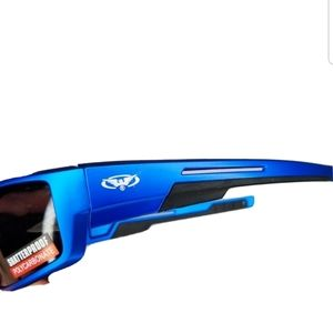 Blue Designer Motorcycle Riding Sunglasses